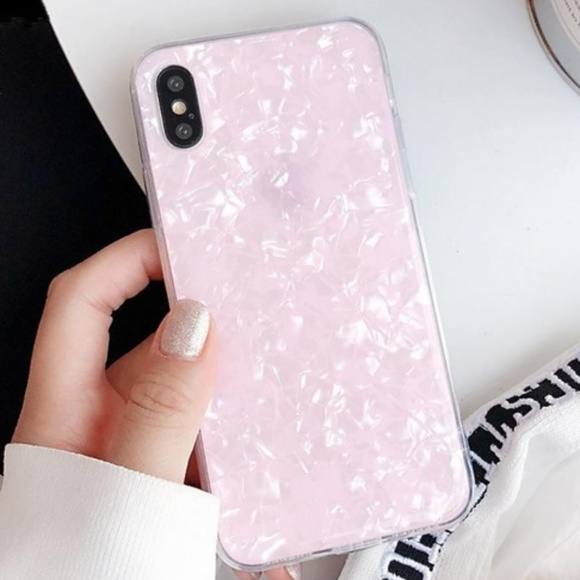 Accessories - NEW iPhone X/XS Pink Conch Shell Case